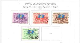 Congo Dem.Rep.1961 Accordo Con Belgio  Scott.366/369 See Scans - Repubblica Democratica Del Congo (1964-71)
