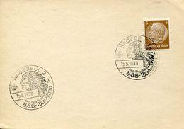 30425 Germany Reich, Special Postmark 1938 Radebeul,karl May Museum, Indian, Indien - American Indians
