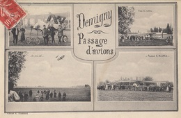CARTE POSTALE DE DEMIGNY / AVION / AVIATION - France
