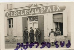 CAUDROT - CAFE CERCLE DE LA PAIX ROUTE NATIONALE - SUPERBE CARTE PHOTO - France