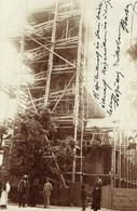 T2 1911 Felsővisó, Viseu De Sus; A Felsővisói Templom építése / Church Under Construction. Photo - Postcards