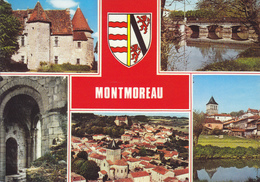 16  MONTMOREAU - MULTIVUES AVEC BLASON - Frankrijk