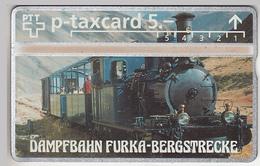 SUISSE - PHONE CARD - TAXCARD-PRIVÉE   ***  TRAIN - ZUG - DAMPFBAHN - FURKA  *** - Schweiz
