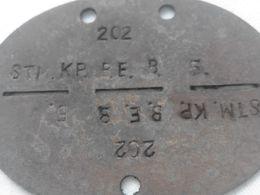 Plaque D'identité Allemande Erkennungsmarke A5 - 1939-45