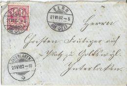 Brieflein  Bern - Interlaken  (Farbvariante)         1882 - Lettres & Documents
