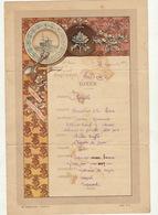 Menu Bateau Paquebot Septembre 1890 Salazie Compagnie Des Messageries Maritimes - Menus