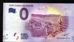 France - Billet Touristique 0 Euro 2018 N°1014 (UEEE001014/5000) - PONT-CANAL DE BRIARE - EURO