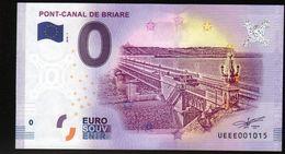 France - Billet Touristique 0 Euro 2018 N°1015 (UEEE001015/5000) - PONT-CANAL DE BRIARE - EURO