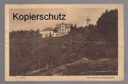 ALTE POSTKARTE PLÖN HOTEL PARNASS UND AUSSICHTSTURM Postcard Ansichtskarte Cpa AK - Plön