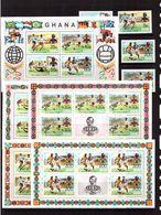 Ghana-1974(Mi.581-584,Bl.58 + 4 Sheets) ,Football, Soccer, Fussball,calcio,MNH - 1974 – Germania Ovest