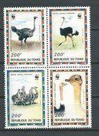 TCHAD  Scott 693 Yvert 649-642 (4) ** Cote 15,00$ 1996 - Tchad (1960-...)