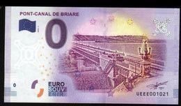 France - Billet Touristique 0 Euro 2018 N°1021 (UEEE001021/5000) - PONT-CANAL DE BRIARE - EURO