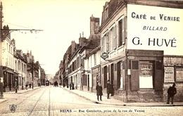 REIMS - RUE GAMBETTA,PRISE DE LA RUE DE VENISE - Reims