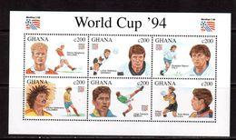 Ghana-1994(Mi.2073-2078) ,Football, Soccer, Fussball,calcio,MNH - World Cup