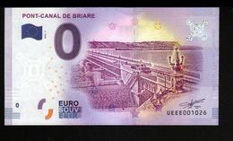 France - Billet Touristique 0 Euro 2018 N°1026 (UEEE001026/5000) - PONT-CANAL DE BRIARE - EURO