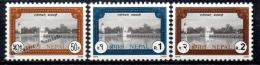Nepal 2000 Yvert 677-79, Definitive. Buildings - MNH - Nepal