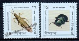 Nepal 2000 Yvert 718-19, Fauna. Insects - MNH - Nepal