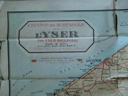 Champ De Bataille De L' YSER THE Yser Battlefield  C. Pieters  Editeur Bruxelles - Cartes Topographiques