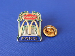 Pin's Mac Do - Mc Donald's - Menilmontant - France - Paris - Bouche De Métro - Hector Guimard (VB38) - McDonald's