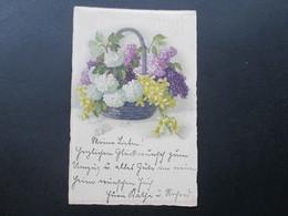 AK 1922 Blumen / Blumenkorb. Meissner & Buch Leipzig Postkartenserie 2446 - Blumen