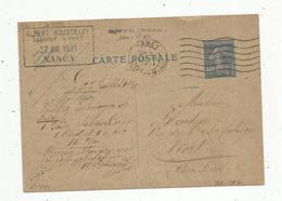 Carte Postale , ENTIER POSTAL , 40c , NANCY , 1931 , Albert ROUSSELOT - Standard Postcards & Stamped On Demand (before 1995)