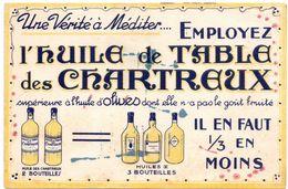 Buvard Vloeipapier - Huile D' Olives De Table Des Chartreux - Alimentaire