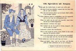 Buvard Vloeipapier - Spreuken Uit Aragon - Druk Die Keure Brugge - Buvards, Protège-cahiers Illustrés