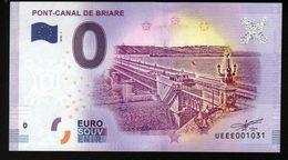 France - Billet Touristique 0 Euro 2018 N°1031 (UEEE001031/5000) - PONT-CANAL DE BRIARE - EURO
