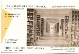 Buvard Vloeipapier - Het Huis Der Mutualisten - Apotheken - Brussel - Buvards, Protège-cahiers Illustrés
