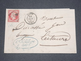 FRANCE - Lettre De Auch Pour Lectoure En 1860 , Affranchissement Napoléon 80c - L 13255 - Postmark Collection (Covers)