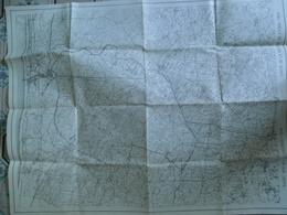 KAART VAN HET IJZERGEBIED _-1914 CARTE DE LA  RéGION DE L'YSER -1914 - Cartes Topographiques