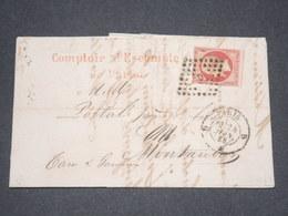 FRANCE - Lettre De Paris Pour Montauban En 1858 , Affranchissement Napoléon 80c - L 13257 - 1849-1876: Periodo Clásico