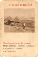 DANS LES MONTAGNES DU LESSOUTO VILLAGES INDIGENES   CARTE FORMAT 11 X 7.50 CM DOS VIERGE - Cartes Postales