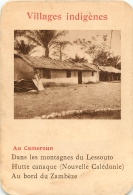 AU CAMEROUN  VILLAGES INDIGENES   CARTE FORMAT 11 X 7.50 CM DOS VIERGE - Cartes Postales