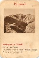 MONTAGNES DU LESSOUTO PAYSAGES  CARTE FORMAT 11 X 7.50 CM DOS VIERGE - Cartes Postales