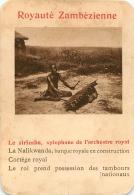 LE SIRIMBA  XYLOPHONE DE L'ORCHESTRE ROYAL  ROYAUTE ZAMBEZIENNE  CARTE FORMAT 11 X 7.50 CM DOS VIERGE - Cartes Postales