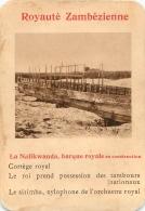 LA NALIKWANDA BARQUE ROYALE EN CONSTRUCTION   ROYAUTE ZAMBEZIENNE  CARTE FORMAT 11 X 7.50 CM DOS VIERGE - Cartes Postales