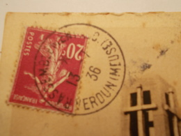 Marcophilie  Cachet Lettre Obliteration -  Rassemblement Verdun - 1936 - (1691) - Postmark Collection (Covers)