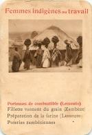 PORTEUSES  DE COMBUSTIBLE LESSOUTO FEMMES INDIGENES AU TRAVAIL   CARTE FORMAT 11 X 7.50 CM DOS VIERGE - Cartes Postales
