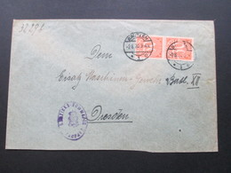 DR Infla Dienstmarken /Dienstpost 1920 Nr. 27 MeF /senkrechtes Paar! Feldpost! Bezirks Kommando.Maschinengewehr Batl.XII - Service