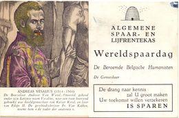 Buvard Vloeipapier - ASLK Spaarbank - Vesalius - Banque & Assurance