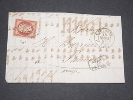 FRANCE - Lettre De Toulouse Pour Pamiers En 1856 , Affranchissement Napoléon 80c - L 13261 - Storia Postale