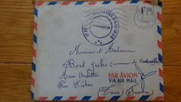 Cachet 3eme Regiment Des Chasseurs Afrique Sur Enveloppe Bouira Alger 1956 - Marcophilie (Lettres)