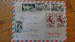 Bel Affranchissement Sur  Enveloppe Cachet Mindoule AEF - A.E.F. (1936-1958)