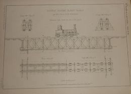 Plan Du Nouveau Système De Pont Mobile. Monsieur Le Prince A. De Polignac. 1860 - Travaux Publics