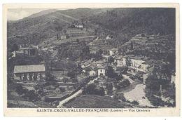 Cpa Sainte Croix Vallée Française - Vue Générale - France