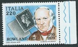 Italia, Italy, Italien 1979; Rowland Hill, Inventore Del Francobollo Come Prova Di Pagamento. Di Bordo, Nuovo - Rowland Hill