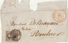 épaulette 10 Centimes Courtrai Roulers - 1849-1865 Médaillons (Autres)