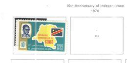 Congo Dem.Rep.1970  10 Ann. Indip. Scott.663+ See Scans - Repubblica Democratica Del Congo (1964-71)