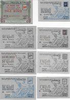 """Lot 8 Billets """"matière"""" émis Par OCRPI Section Des Fontes, Fers Et Aciers : Acier Ordinaire Et Tôle Mince - Bonds & Basic Needs"""